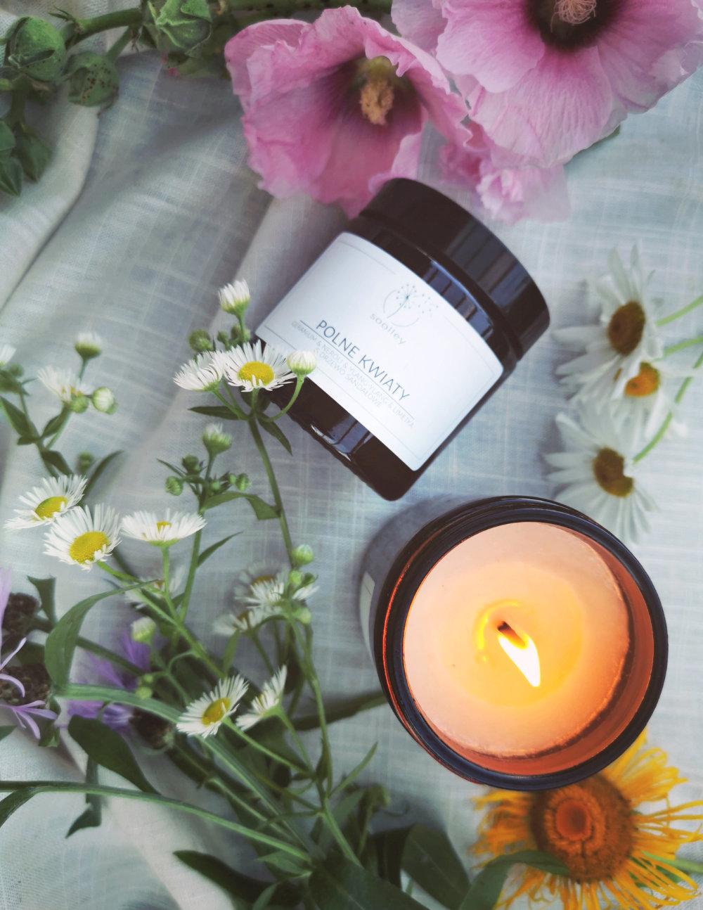 Świeca sojowa Polne kwiaty 120ml - soolley