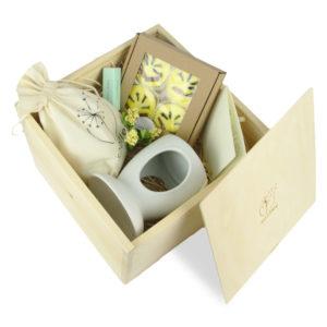 soolley zestaw prezentowy z kominkiem i woskami zapachowymi