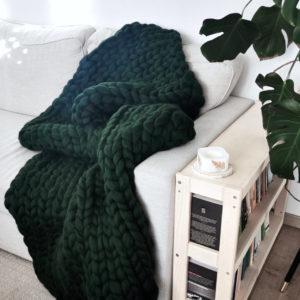 soolley koc z wełny czesankowej butelkowa zieleń