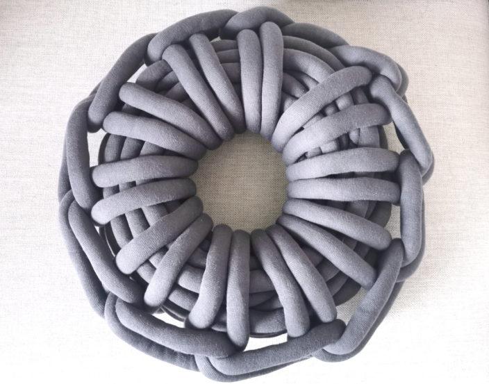 soolley poduszka knot ciemnoszara